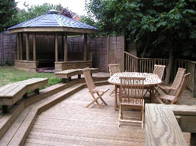 Pro deck solutions for Split level garden decking